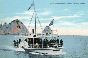 Santa Catalina Island, California - Glass Bottom Boat on Avalon Bay by Lantern Press