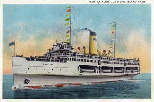 Santa Catalina Island, California - View of Steamer Catalina by Lantern Press