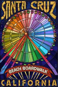 Santa Cruz, California - Beach Boardwalk Ferris Wheel by Lantern Press