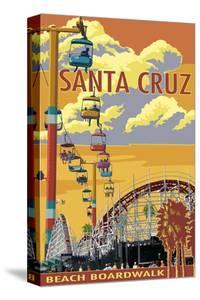 Santa Cruz, California - Beach Boardwalk by Lantern Press