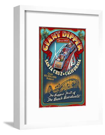 Santa Cruz, California - Giant Dipper Roller Coaster Vintage Sign