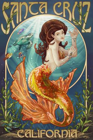 Santa Cruz, California - Mermaid