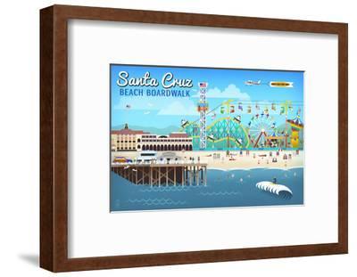 Santa Cruz, California - Retro Scene