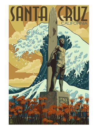 Santa Cruz, California - Surfer Statue