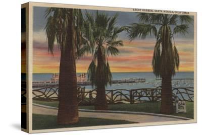 Santa Monica, CA - Yacht Harbor and Sunset View