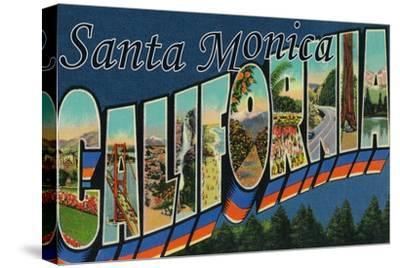 Santa Monica, California - Large Letter Scenes