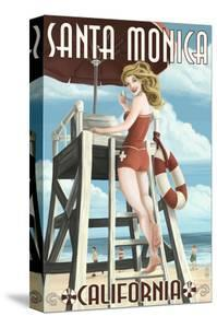 Santa Monica, California - Lifeguard Pinup by Lantern Press