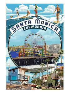 Santa Monica, California - Montage Scenes by Lantern Press