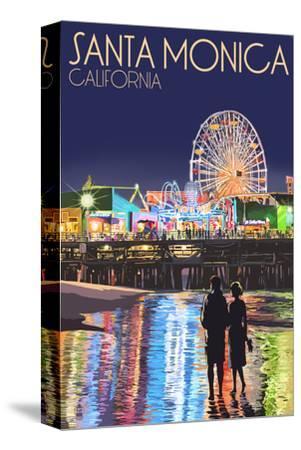 Santa Monica, California - Pier at Night
