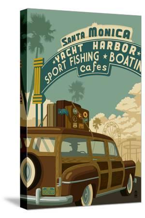Santa Monica, California - Route 66 - Pier Scene
