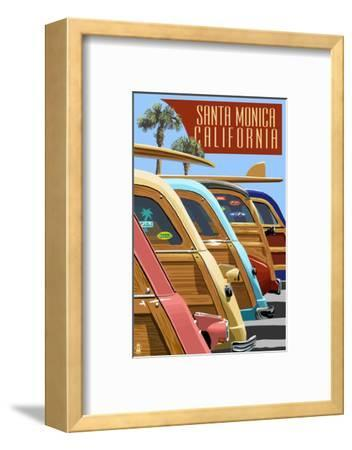 Santa Monica, California - Woodies Lined Up