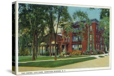 Saratoga Springs, New York - City Park View of Casino Exterior