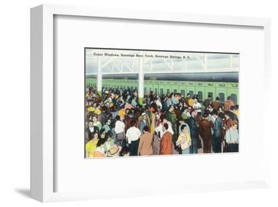 Saratoga Springs, New York - Crowds at Race Track Ticket Windows