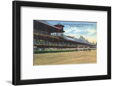 Saratoga Springs, New York - Racetrack View of Clubhouse, Band Stand