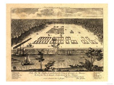 Atlanta Georgia 1871 Historic Panoramic Town Map 18x24