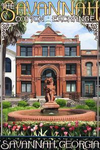 Savannah, Georgia - The Cotton Exchange by Lantern Press