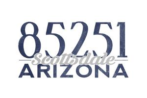 Scottsdale, Arizona - 85251 Zip Code (Blue) by Lantern Press