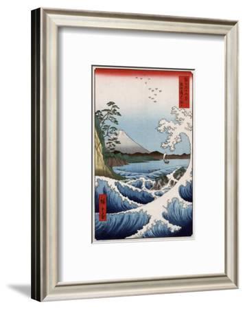 Sea at Satta in Suruga Province, Japanese Wood-Cut Print