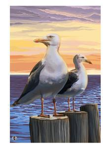 Sea Gulls by Lantern Press