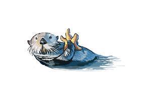 Sea Otter - Icon by Lantern Press