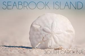 Seabrook Island, South Carolina - Sand Dollar and Beach by Lantern Press