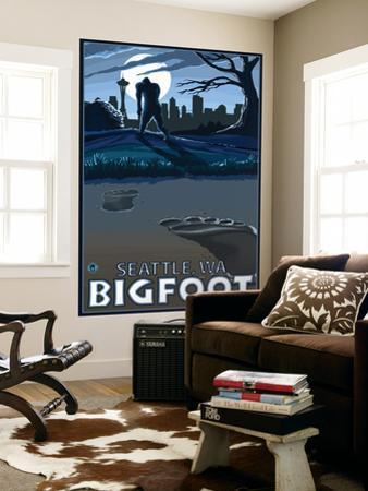Seattle, Washington Bigfoot by Lantern Press