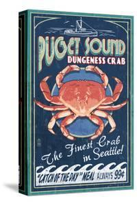 Seattle, Washington - Dungeness Crab by Lantern Press