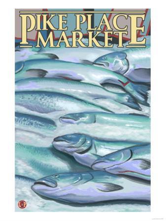 Seattle, Washington - Fish on Ice at Pike Place Market