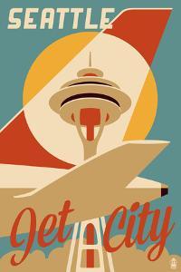 Seattle, Washington - Jet City by Lantern Press