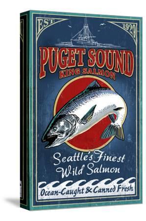 Seattle, Washington - King Salmon