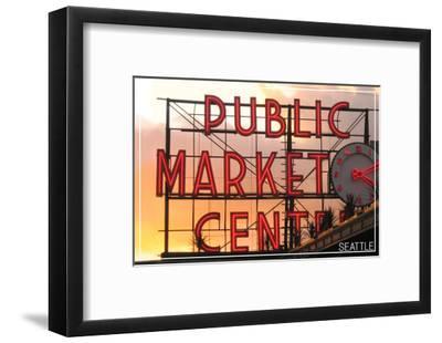 Seattle, Washington - Pike Place Market Sunset
