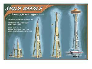 Seattle, Washington - Space Needle Construction Timeline by Lantern Press