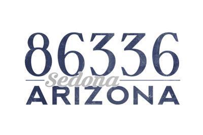 Sedona, Arizona - 86336 Zip Code (Blue) by Lantern Press