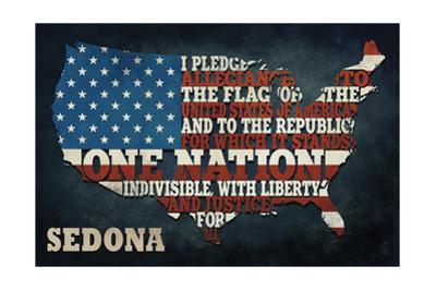 Sedona, Arizona - Americana - Pledge of Allegiance by Lantern Press