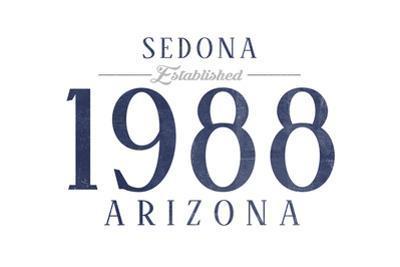 Sedona, Arizona - Established Date (Blue) by Lantern Press