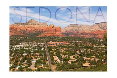 Sedona, Arizona - Mountain and Valley View by Lantern Press