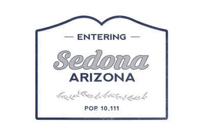 Sedona, Arizona - Now Entering (Blue) by Lantern Press