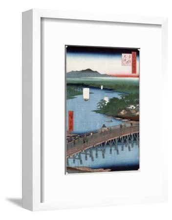 Senju Great Bridge, Japanese Wood-Cut Print