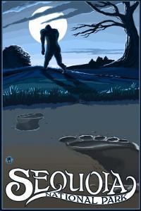 Sequoia Nat'l Park - Bigfoot - Lp Poster, c.2009 by Lantern Press