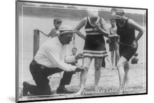 Short Swimsuits - Pewaukee Lake, Wisconsin - Vintage by Lantern Press