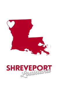 Shreveport, Louisiana - Heart Design by Lantern Press