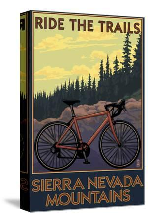 Sierra Nevada Mountains, California - Bicycle on Trails