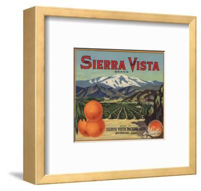 Sierra Vista Brand - Riverside, California - Citrus Crate Label