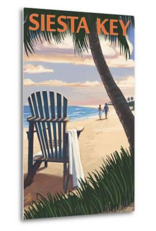 Siesta Key, Florida - Adirondack Chair on the Beach