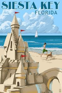 Siesta Key, Florida - Sandcastle by Lantern Press