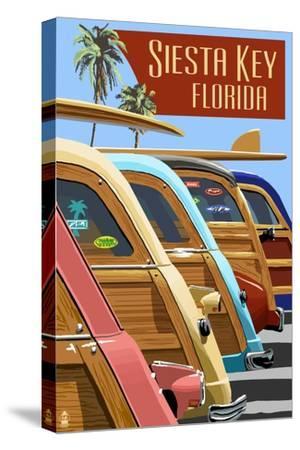 Siesta Key, Florida - Woodies Lined Up