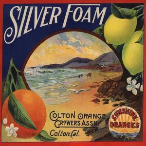 Silver Foam Brand - Colton, California - Citrus Crate Label by Lantern Press