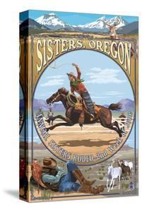 Sisters, Oregon - Cowboy Montage by Lantern Press
