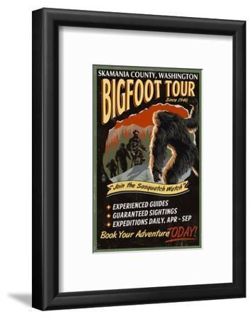 Skamania County, Washington - Bigfoot Tours - Vintage Sign