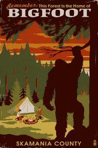 Skamania County, Washington - Home of Bigfoot by Lantern Press